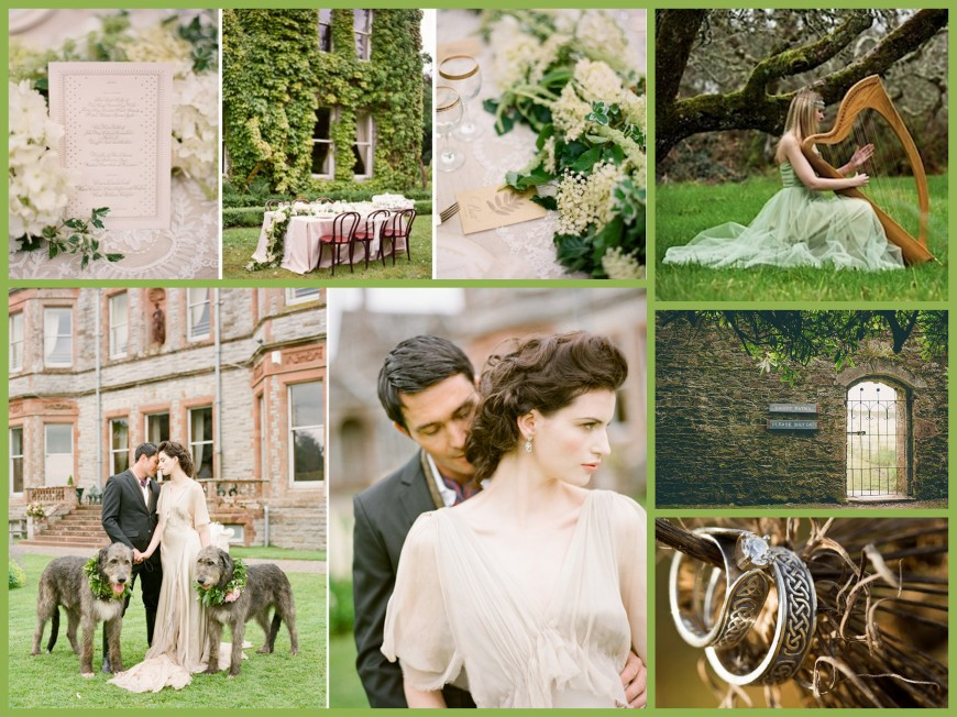 Irish Wedding Collage