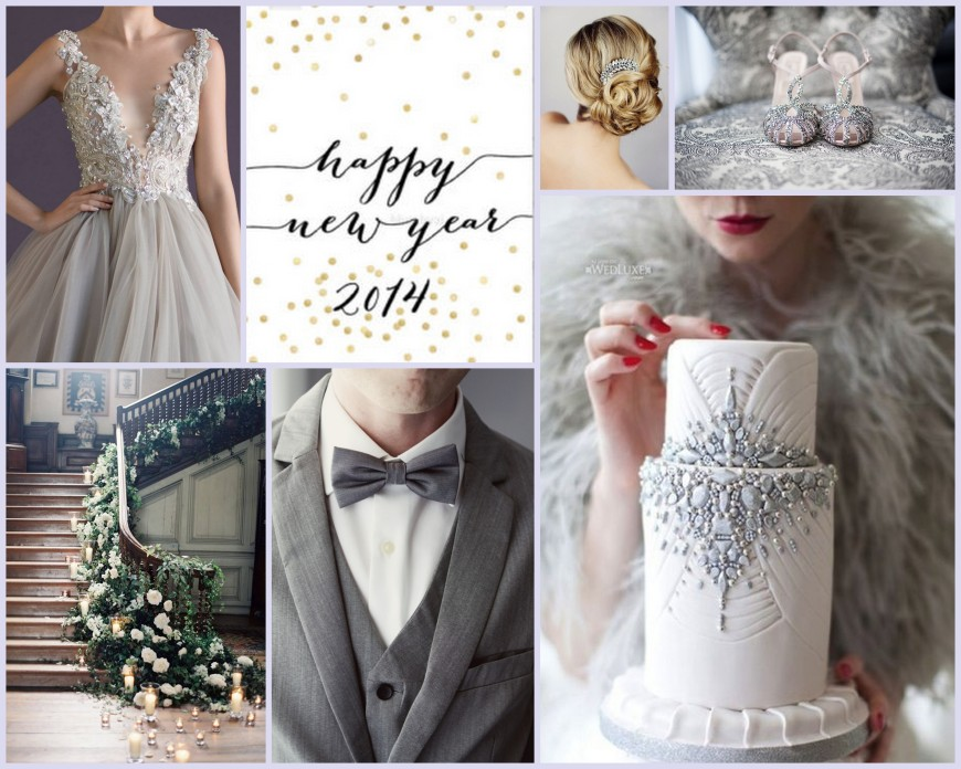 Happy New Year Wedding Collage