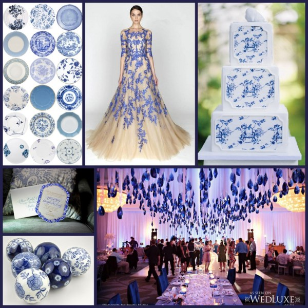 BlueandWhitePorcelain Wedding Collage_Chic