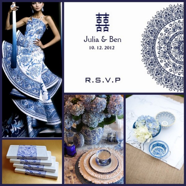 BlueandWhitePorcelain Wedding Collage_Chinese