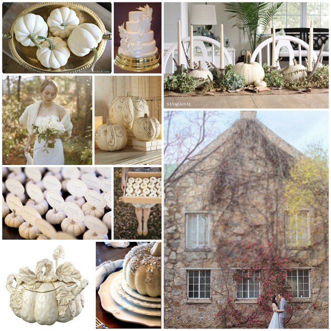 White Pumpkin Wedding Collage